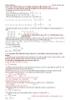Công thức giải các bài toán trắc nghiệm sinh học