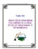 LUẬN VĂN: PHÂN TÍCH TÌNH HÌNH TÀI CHÍNH CỦA CÔNG TY XUẤT NHẬP KHẨU Y TẾ DOMESCO