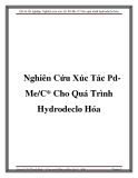  n tt nghip: Nghin cu xc tc Pd-Me /C*cho qu trnh hydrodeclo ha