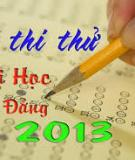  Thi Th i Hc Khi A, A1, B, D Ton 2013 - Phn 33 -  7
