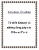 """Khóa luận tốt nghiệp """" Từ điển Khazar và những đóng góp của Milorad Pavic """""""