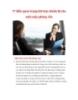 17 điều quan trọng khi bạn chuẩn bị cho một cuộc phỏng vấn