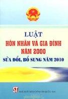 Luật hôn nhân và gia đình năm 2000 sửa đổi, bổ sung năm 2010