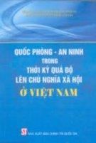 Quốc phòng an ninh trong thời kỳ quá độ lên chủ nghĩa xã hội ở Việt Nam
